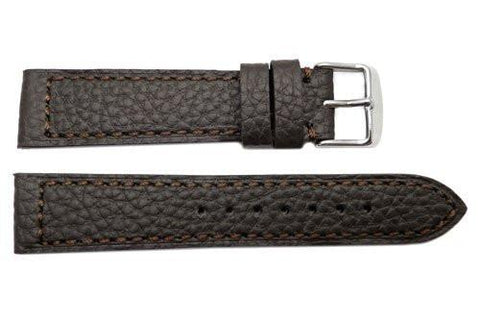 Genuine Buffalo Brown Leather Sport Style Watch Strap