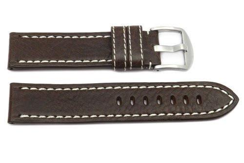 Hadley Roma Medium Padded Brown Sport Leather Watch Strap