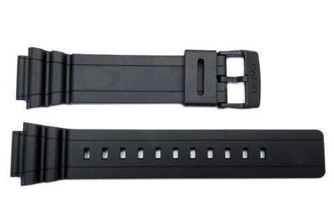 Genuine Casio Black Resin 18mm Watch Strap