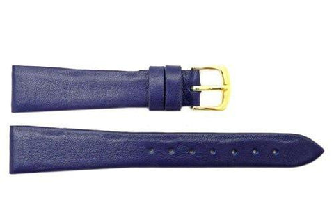 Hadley Roma Smooth Genuine Purple Leather Watch Band