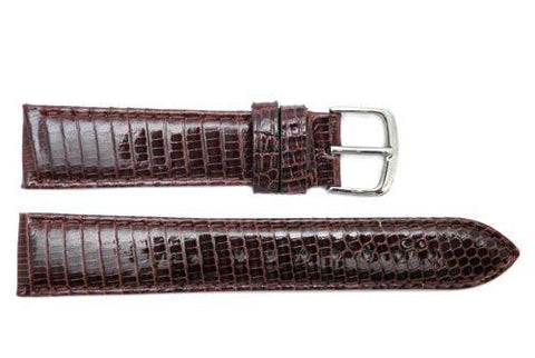 Hadley Roma Burgundy Genuine Java Lizard Light Padded Watch Band