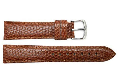 Hadley Roma Light Tan Genuine Java Lizard Light Padded Watch Band