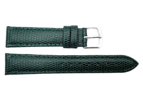 Hadley Roma Java Lizard Grain Green Textured Leather Watch Strap