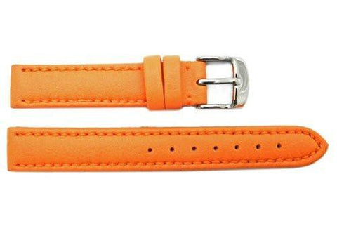 Hadley Roma Genuine Lorica Orange Hypo-Allergenic Waterproof Watch Band