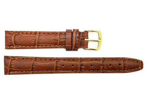 Hadley Roma Tan Calfskin Alligator Grain Leather Watch Band