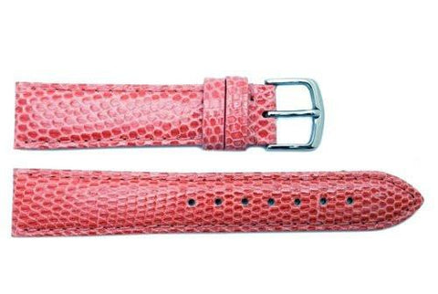 Hadley Roma Pink Genuine Java Lizard Light Padded Watch Band