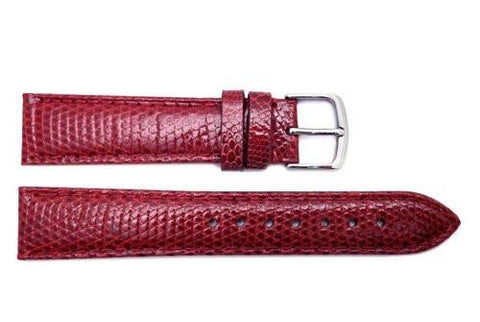 Hadley Roma Wine Genuine Java Lizard Light Padded Watch Band