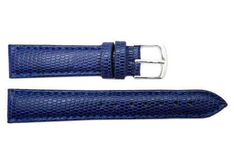 Hadley Roma Java Lizard Grain Navy Blue Textured Leather Watch Strap