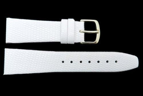 Hadley Roma White Java Lizard Grain Textured Watch Strap