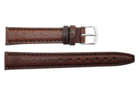 Hadley Roma Brown Light Pad Textured Leather Watch Band