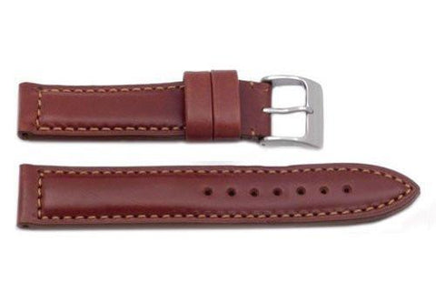 Hadley Roma Heavy Duty Tan Sport Leather Watch Band