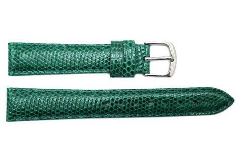 Hadley Roma Green Genuine Java Lizard Light Padded Watch Band