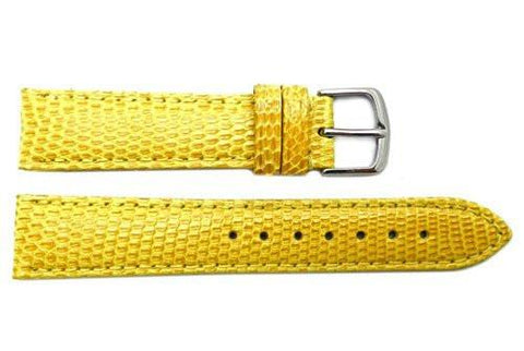 Hadley Roma Yellow Genuine Java Lizard Light Padded Watch Band