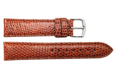 Hadley Roma Tan Genuine Java Lizard Light Padded Watch Band