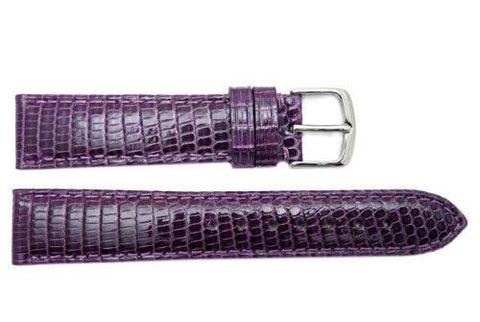 Hadley Roma Purple Genuine Java Lizard Light Padded Watch Band