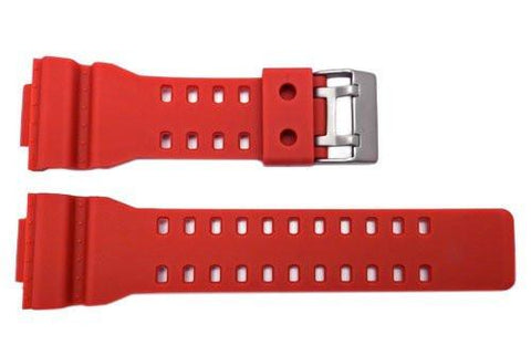Hadley Roma Red Casio G-Shock Style Polyurethane 16mm Watch Band