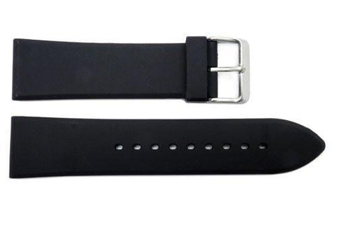 Hadley Roma Heavy Duty Black Polyurethane Watch Band
