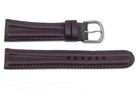 Hadley Roma Waterproof Brown Sport Leather Watch Strap
