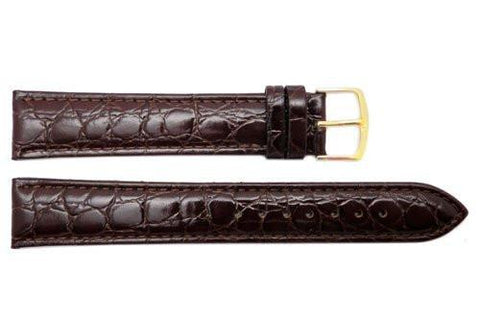Hadley Roma Brown Crocodile Grain Leather Extra Long Watch Band