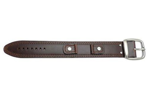 Hadley Roma Smooth Oil Tan Brown Leather Cuff Band