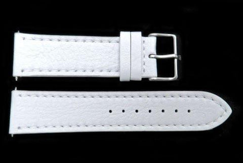 Swiss Army White Ecological Tanned Leather 21mm Watch Strap