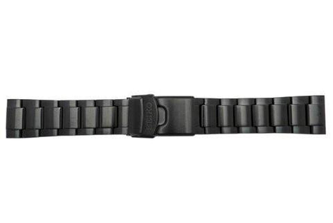 Genuine Seiko Brushed Finish Black Tone 22mm Watch Bracelet