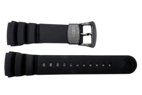 Seiko Genuine Black Rubber Diver's 24mm Watch Band