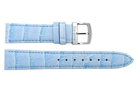 Citizen Ladies Eco Drive Blue Alligator Grain Leather 18mm Watch Strap