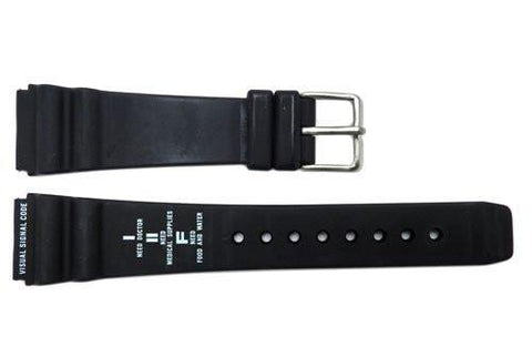 Genuine Citizen Visual Signal Code Series Black Rubber 20mm Watch Band