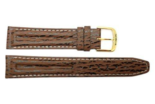 Genuine Noblia Citizen Brown Sharkskin 18mm Watch Strap