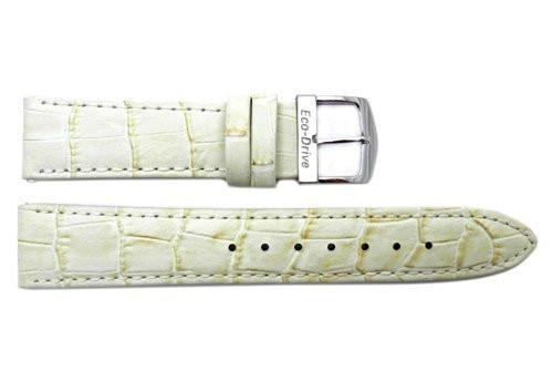 Citizen Ladies Eco Drive White Alligator Grain Leather 18mm Watch Strap