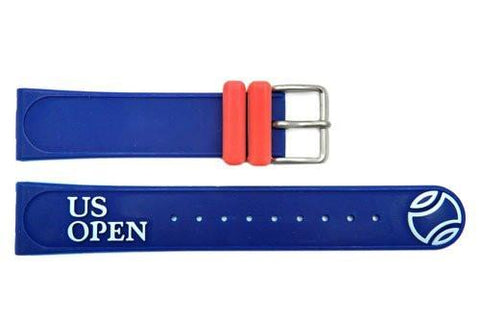 Genuine Citizen US Open Series Blue Rubber 20mm Watch Strap