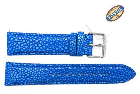 Fossil Blue Soft Cecile Leather 20mm Watch Strap