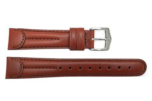 Genuine Wenger Standard Issue Brown 19mm Padded Leather Watch Strap