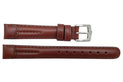 Genuine Wenger Standard Issue Brown 14mm Padded Leather Watch Strap