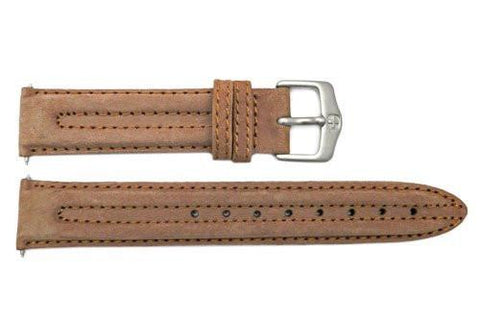 Genuine Wenger Field Series Brown 19mm Leather Watch Strap