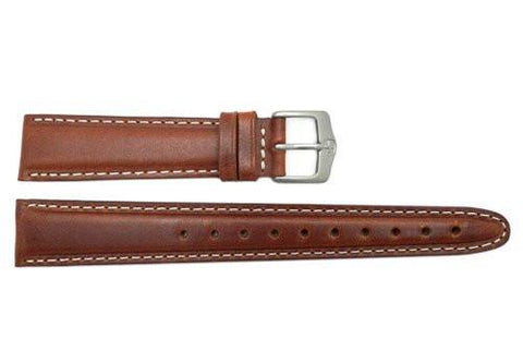 Genuine Wenger Field Issue Brown 19mm Extra Long Leather Watch Strap