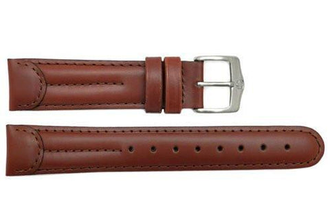 Genuine Wenger Standard Issue Brown 20mm Padded Leather Watch Strap