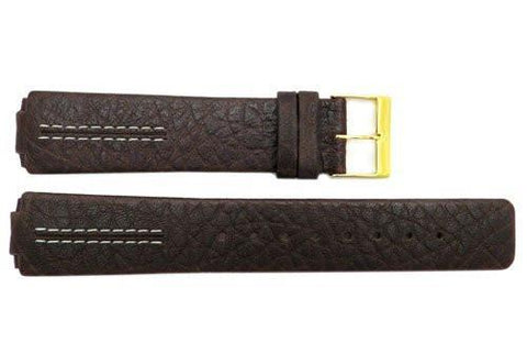 Genuine Skagen Dark Brown Textured Leather 20mm Watch Strap - Screws