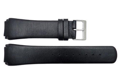 Genuine Skagen Black Matte Leather 23mm Watch Strap - Screws