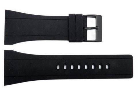 Genuine Kenneth Cole Black Polyurethane 34mm Watch Band