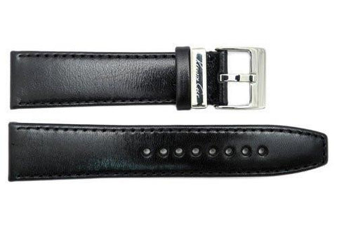 Genuine Kenneth Cole Smooth Black Leather 21mm Watch Strap