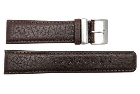 Genuine Kenneth Cole Brown Grained Leather 22mm Watch Band