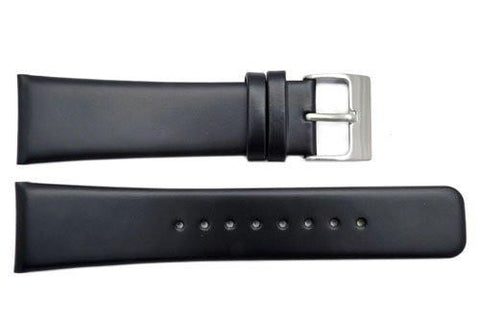 Genuine Kenneth Cole Black Smooth Leather Square Tip 24mm Watch Band