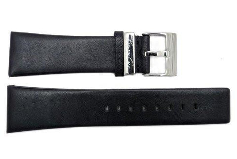 Genuine Kenneth Cole Matte Black Leather Square Tip 24mm Watch Strap
