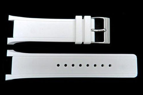 Genuine Kenneth Cole White Polyurethane 26mm Watch Strap
