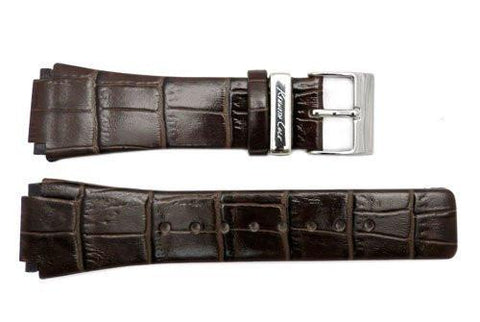 Genuine Kenneth Cole Brown Crocodile Grain Square Tip 24mm Watch Strap