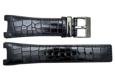 Genuine Kenneth Cole Black Alligator Grain Square Tip 26mm Watch Strap