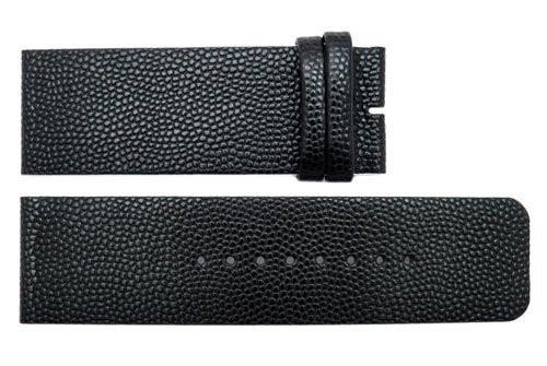 Genuine Kenneth Cole Black Textured Leather 26mm Watch Strap
