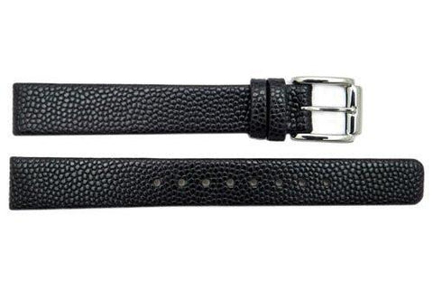 Genuine Kenneth Cole Ladies Black Textured Leather 12mm Watch Strap